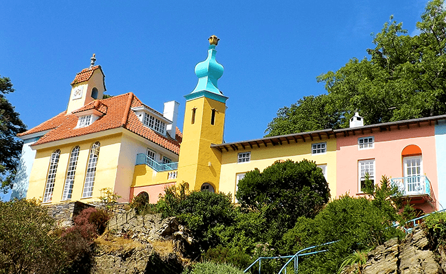 Colourful Buildings in Portmeirion, near Porthmadog